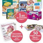 Magazine Bébés et Mamans gratuit + 1 an de couches à gagner