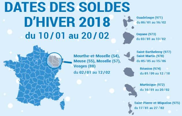 Date des soldes 2018 et d marque youprix - Date des soldes d ete 2017 ...